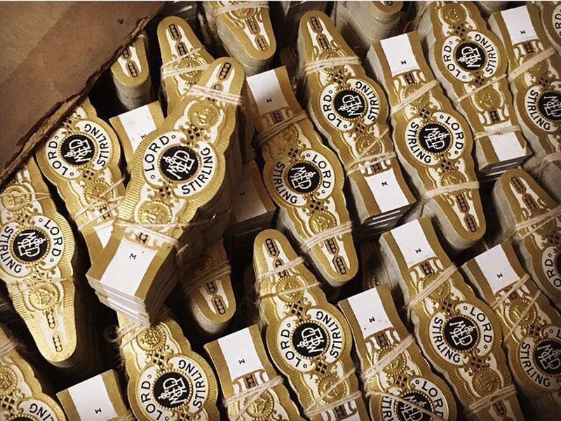 イギリスのヴィンテージシガーラベル・アンテイーク雑貨アップ写真