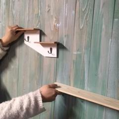 アンティークな壁作り