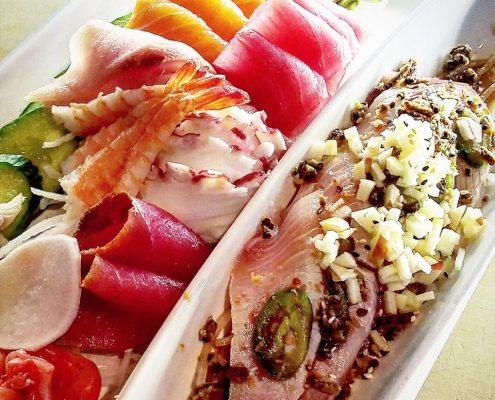 tatake and sashimi