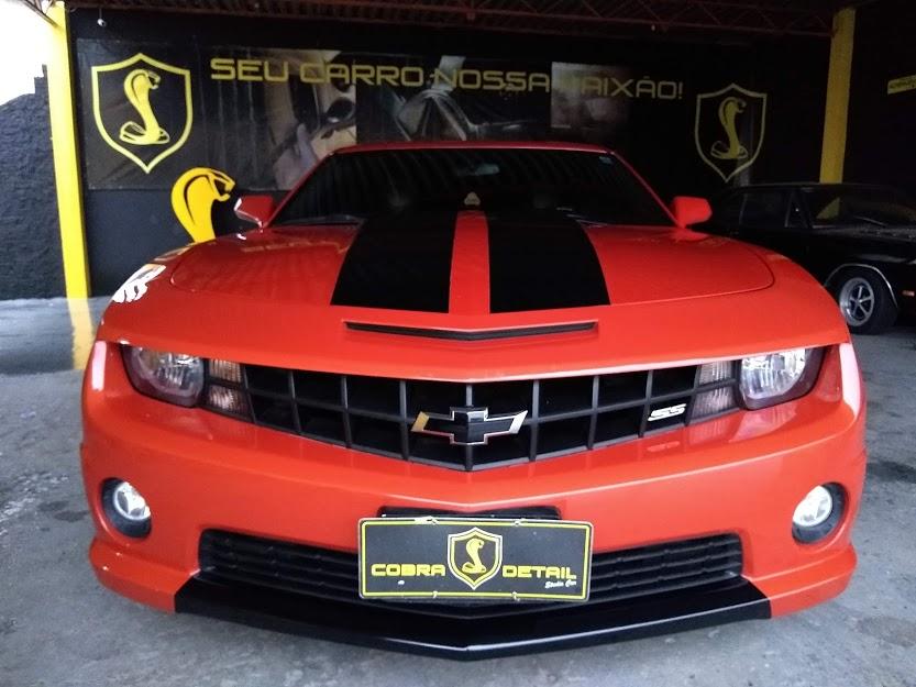Personalização e Vitrificação Camaro SS em Cobra Detail Estética Automotiva