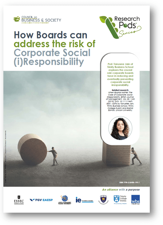 Prof. Tanusree Jain of Trinity Business School explores the crucial role corporate boards have in reducing and eventually preventing corporate social irresponsibility.