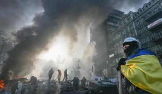 26. Manifestantes toman un ministerio en Kiev (Efe)