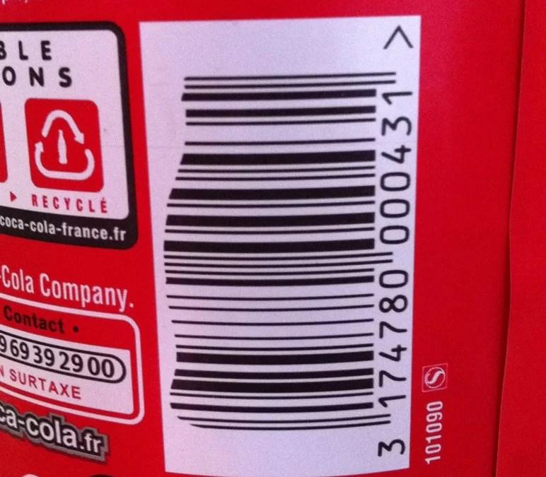 Clin d'oeil : code-barre Coca-Cola
