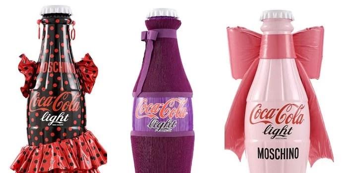Des bouteilles de Coca-Cola Light habillées par des créateurs
