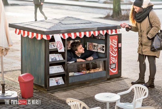 Mini kiosque Coca-Cola