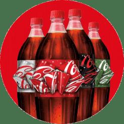 Bouteilles Coca-Cola au nœud magique