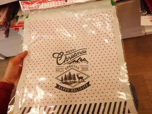 セリア クリスマス ラッピング 袋