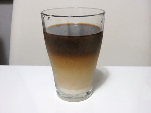 カフェオレ 二層 氷なし