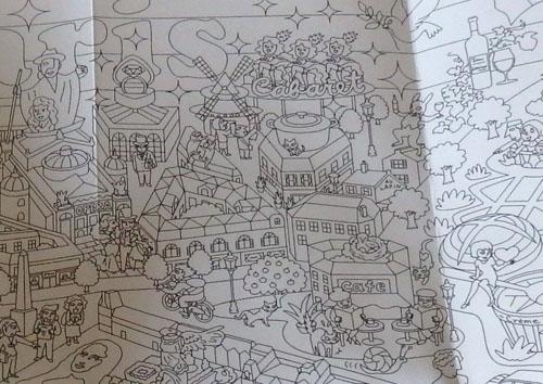 ダイソー 塗り絵 マップ