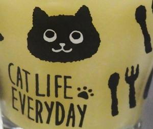 100均 ワッツ 猫柄 グラス