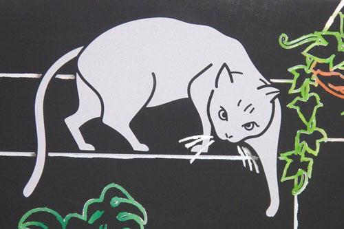 ダイソー スクラッチアート ホログラム 猫