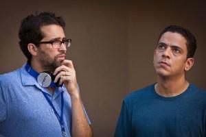 El director, Francisco Valdez y Luis José Germán-De Pez en Cuando
