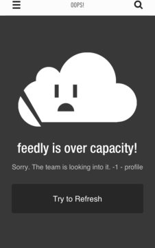 Photo of Feedly Over Capacity é falha do Google
