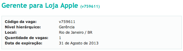 Photo of Quer ser Gerente da Apple Rio?