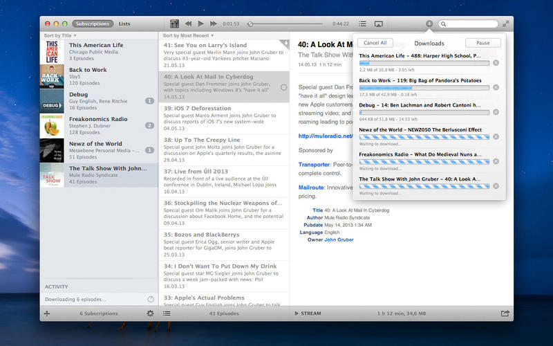 Photo of Instacast para Mac na Área