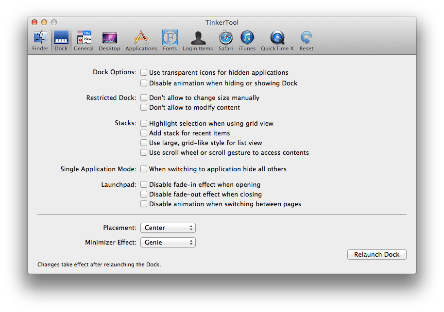 Foto de Tweaks no OS X