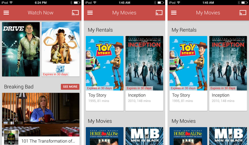 Photo of Google Play Filmes e TV para iOS na Área