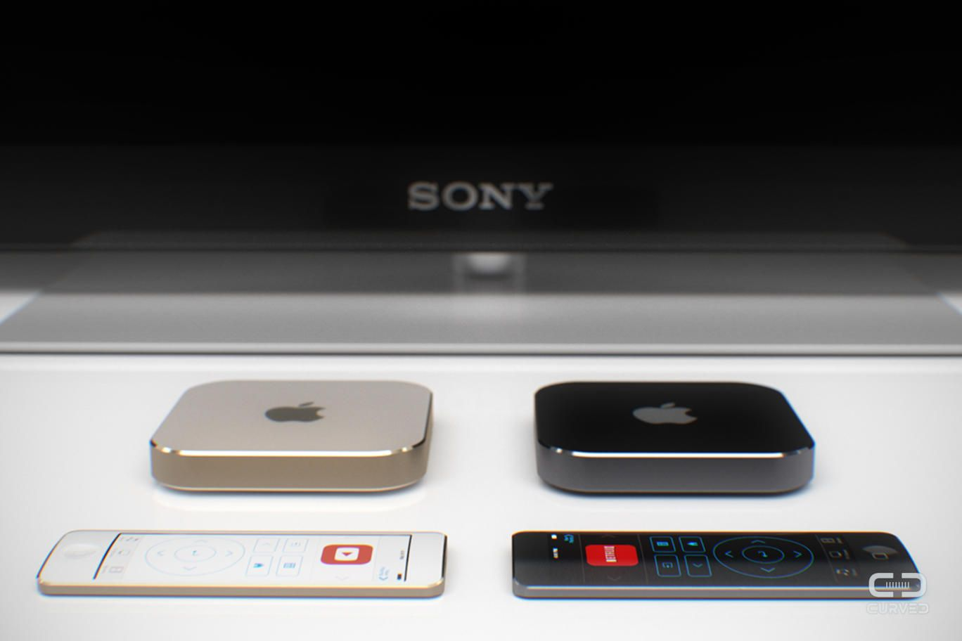 Photo of Conceito de Apple TV com Tela Touch no Controle Remoto