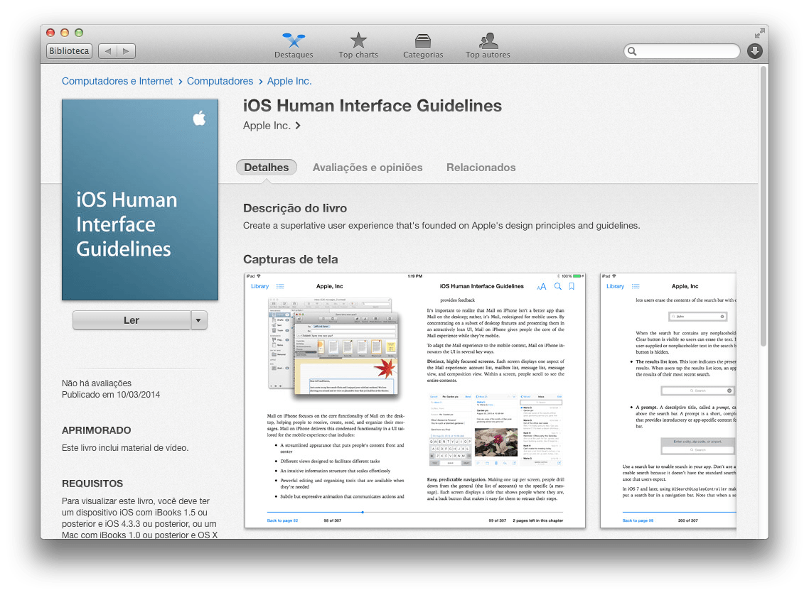 Photo of Guia de Interface Humana para iOS na iBookstore