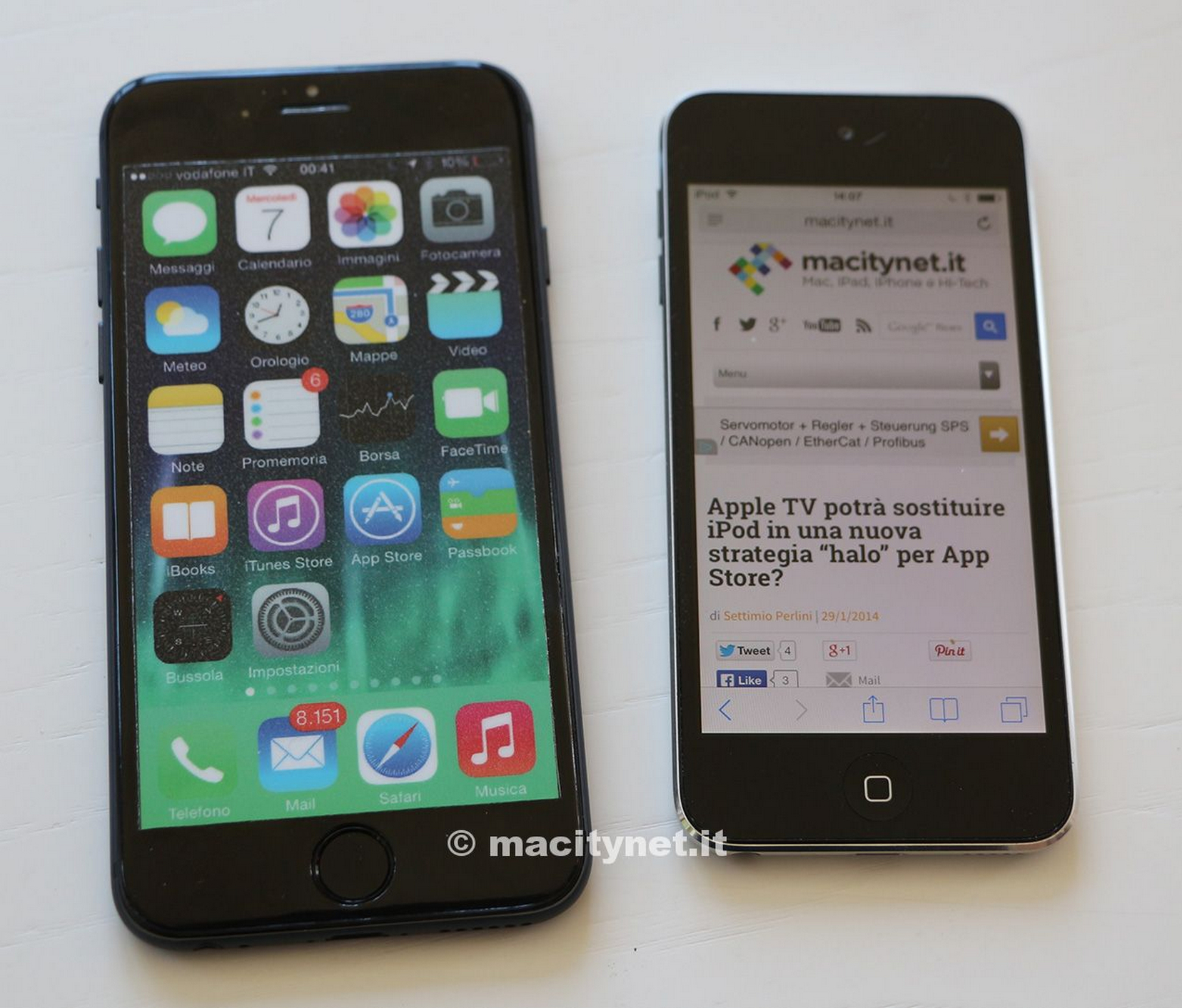 Photo of Mockup de iPhone  6 vs. iPod touch