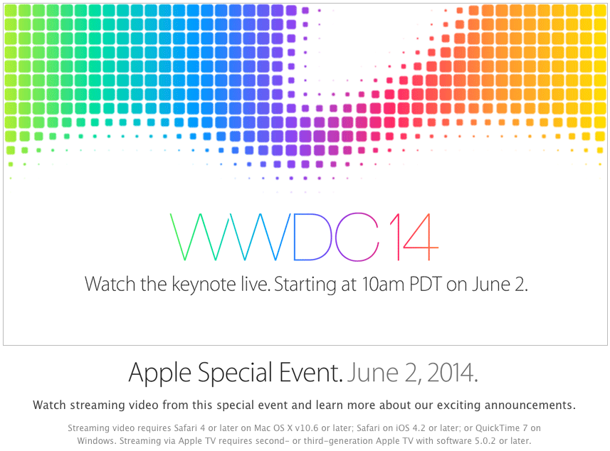 Photo of Vair ter streaming de vídeo ao vivo da WWDC 2014