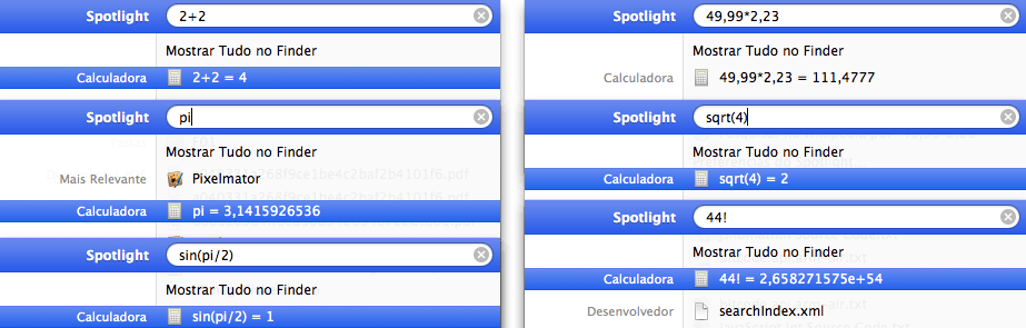 Photo of Spotlight como Calculadora
