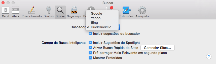 Photo of Como usar Motor de Busca que não faz Tracking no Safari do OS X