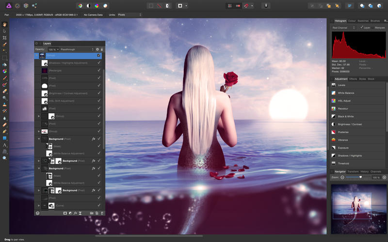 "Foto de Affinity Photo, alternativa ao ""photoshop"""