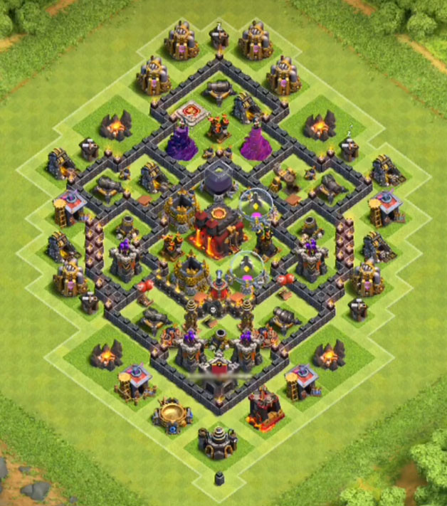 12+ Best COC Town Hall TH7 Hybrid Bases 2016 || 3 Air ...