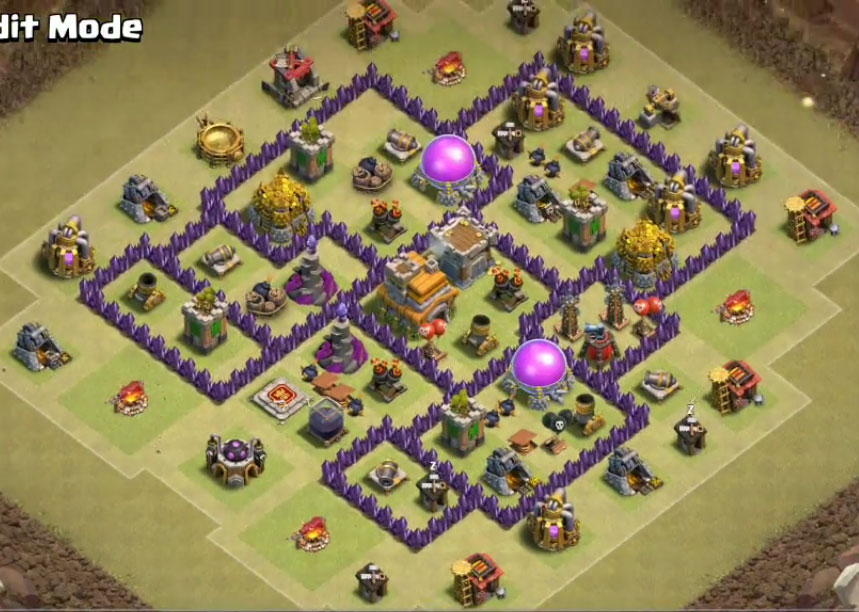 best town hall 7 war base anti 3 stars
