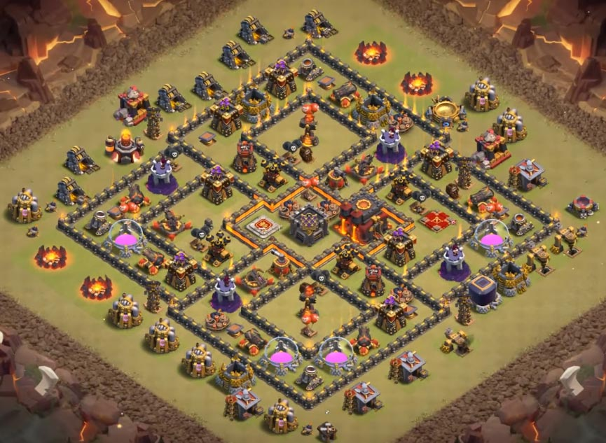 clash of clans town hall 10 war base anti 2 stars