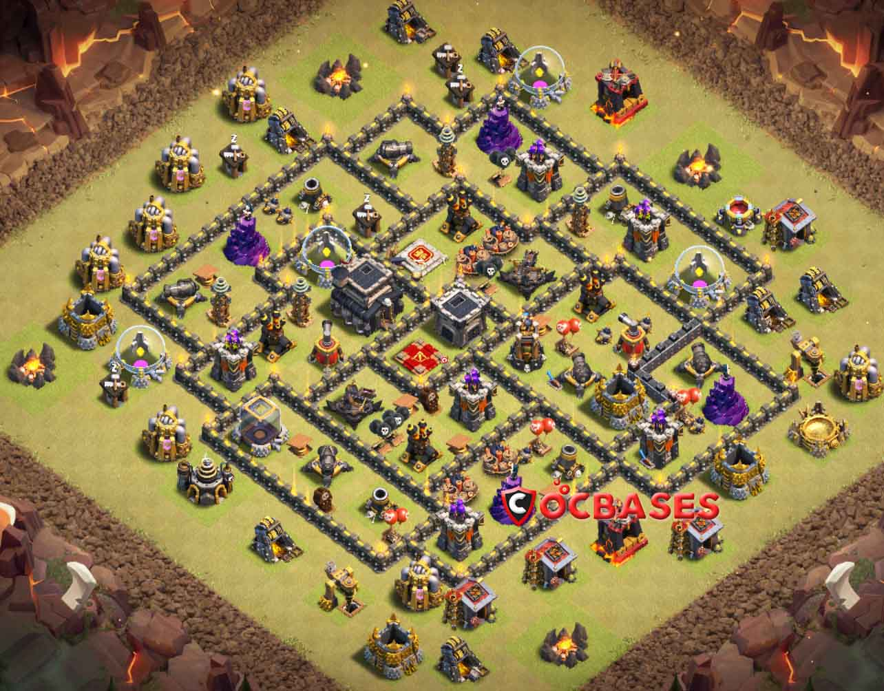 Clash Clans Th9 Trophy Base