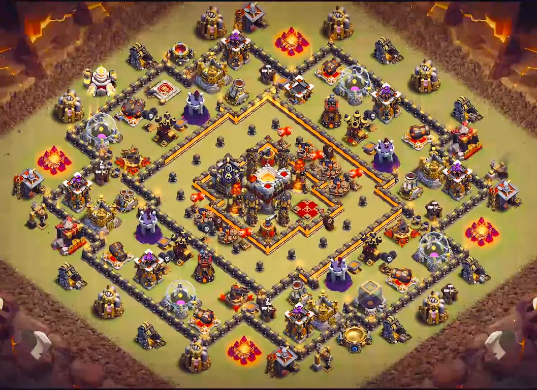 one of the good th10 war base 2019