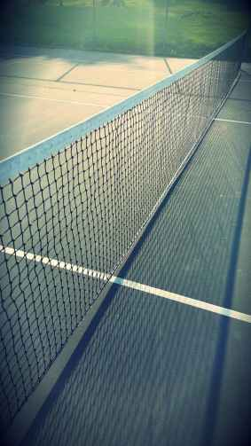 tennis net court advantage