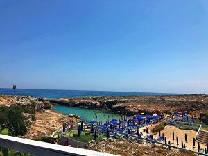 Porto Camicia spiaggia Monopoli dall'alto
