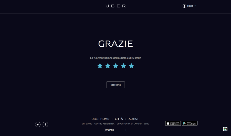 Uber la mia recensione - Cocco on the road