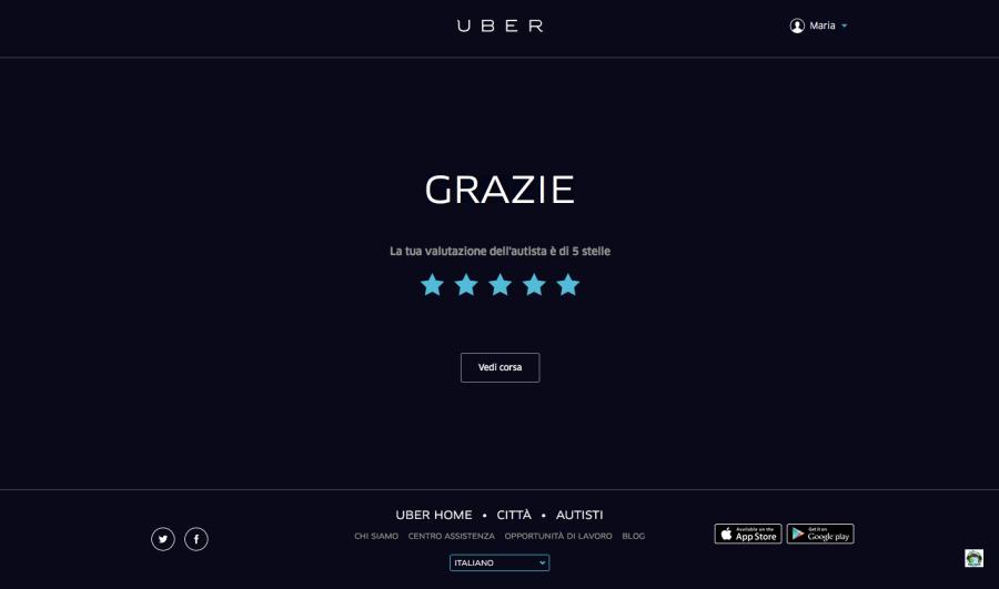 Uber la mia recensione - Cocco on the road