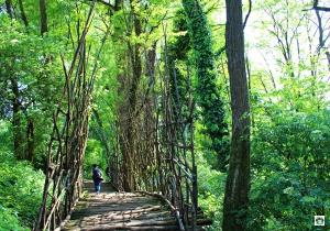 Castello di Padernello i ponti in legno - Cocco on the road