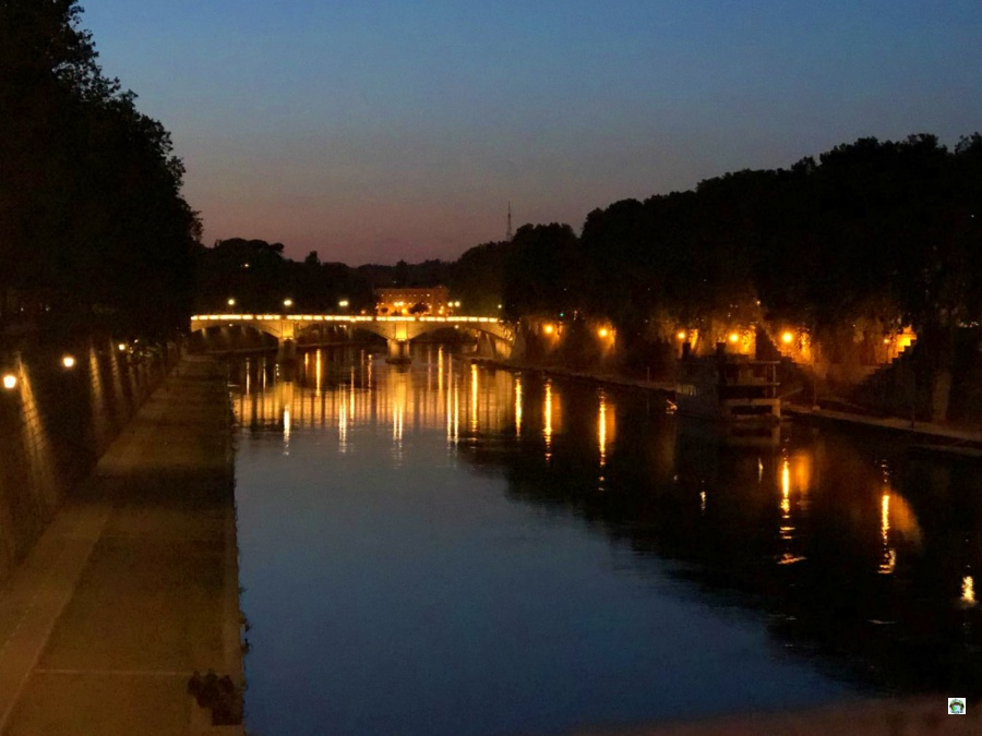 Roma di sera Ponte Sisto - Cocco on the road