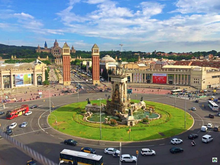 Piazza di Spagna Barcellona ascensore panoramico