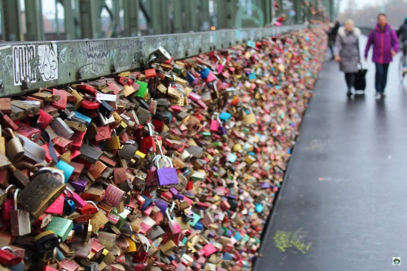 lucchetti dell'amore sul ponte Hohenzollern