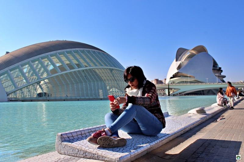 Io alla città dell'arte e della scienza di Valencia