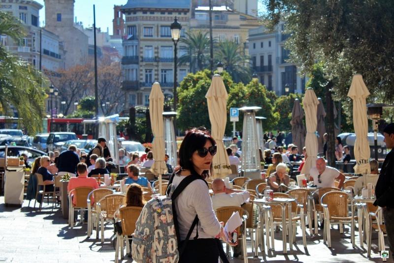 Valencia mangiare all'aperto