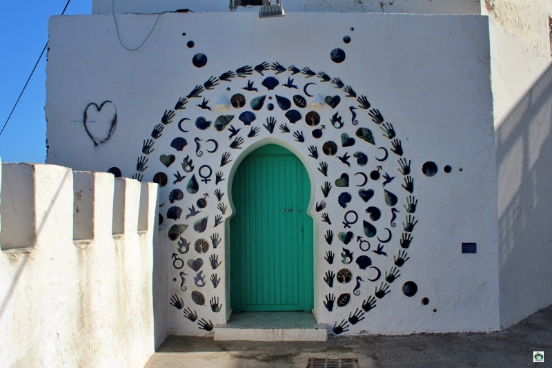 porta colorata e decorata Marocco