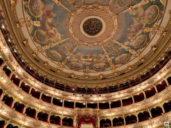 il soffitto del Teatro Grande Brescia