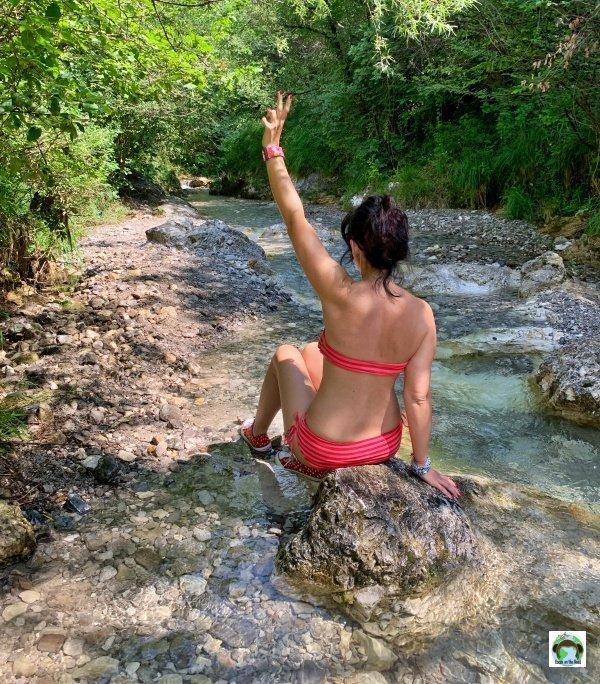 Bagno fiume Garza Val Bertone