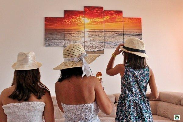 decorazioni murali oceano tramonto