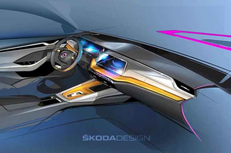boceto interior nuevo Skoda Octavia