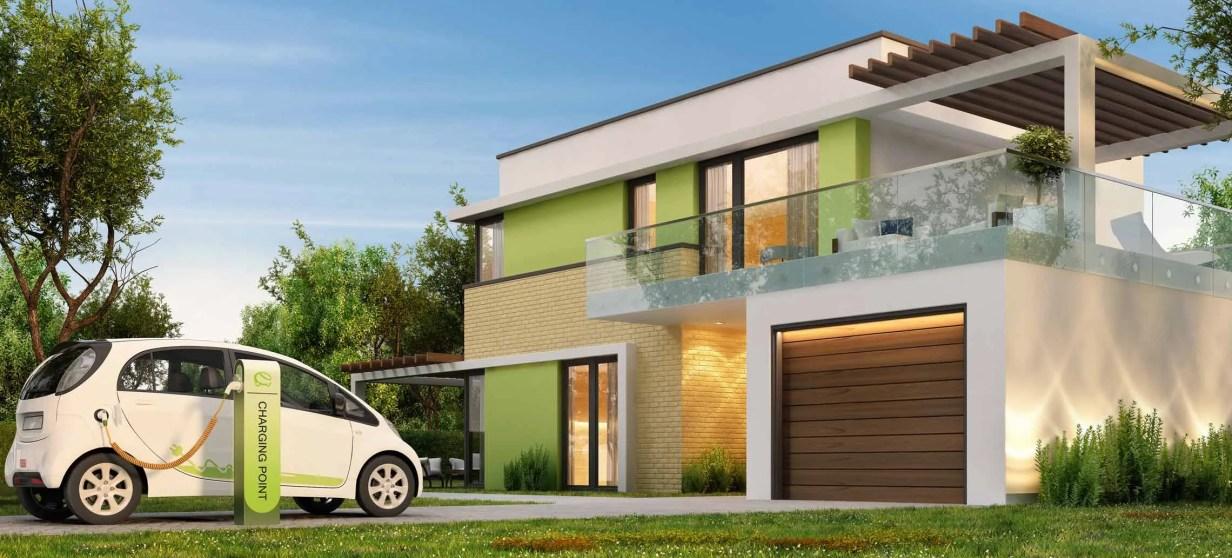 casa con cargador coche electrico