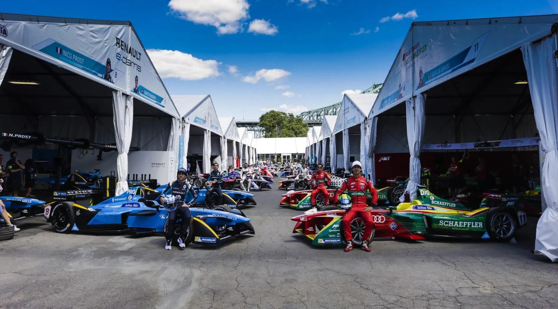 Formula E conductores y equipos